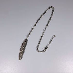 3 FOR $20  Boho Silver Feather Necklace
